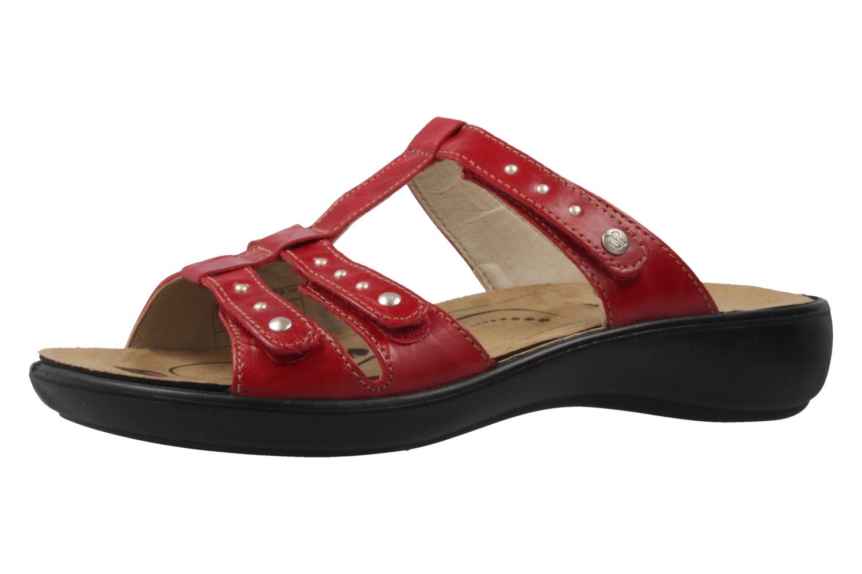 ROMIKA - Damen Pantoletten - Ibiza 75 - Rot Schuhe in Übergrößen – Bild 1