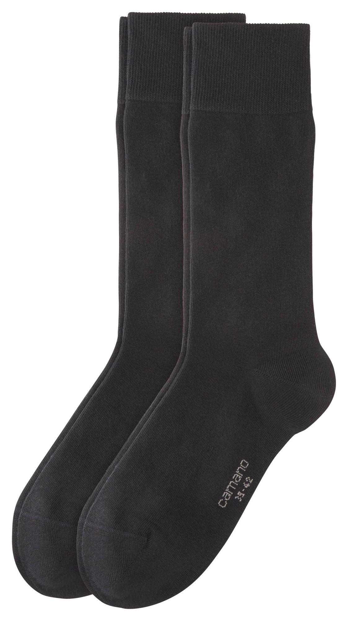 camano - Socken 2er Pack - Business Socken - Schwarz XXL Socken – Bild 1