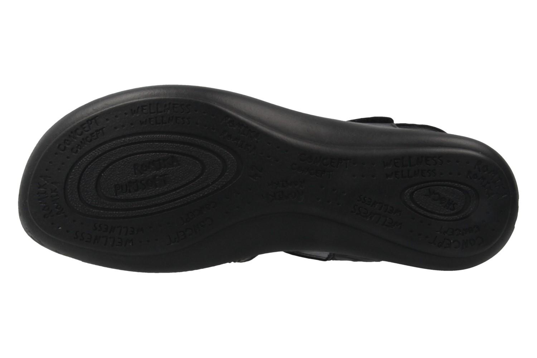Romika Ibiza 73 Sandalen in Übergrößen Schwarz 16073 24 100 große Damenschuhe – Bild 6