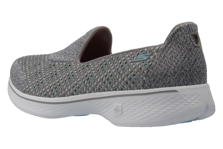 SKECHERS - Damen Slipper - GO WALK 4  KINDLE - Grau Schuhe in Übergrößen – Bild 2