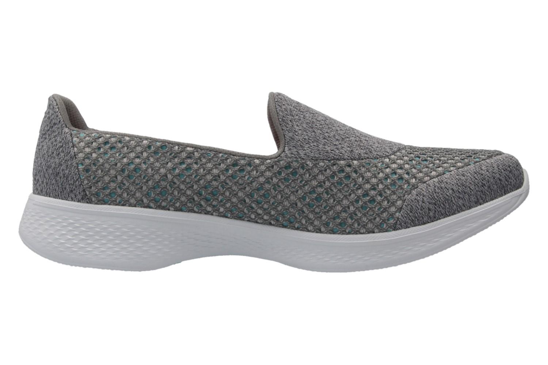 SKECHERS - Damen Slipper - GO WALK 4  KINDLE - Grau Schuhe in Übergrößen – Bild 4