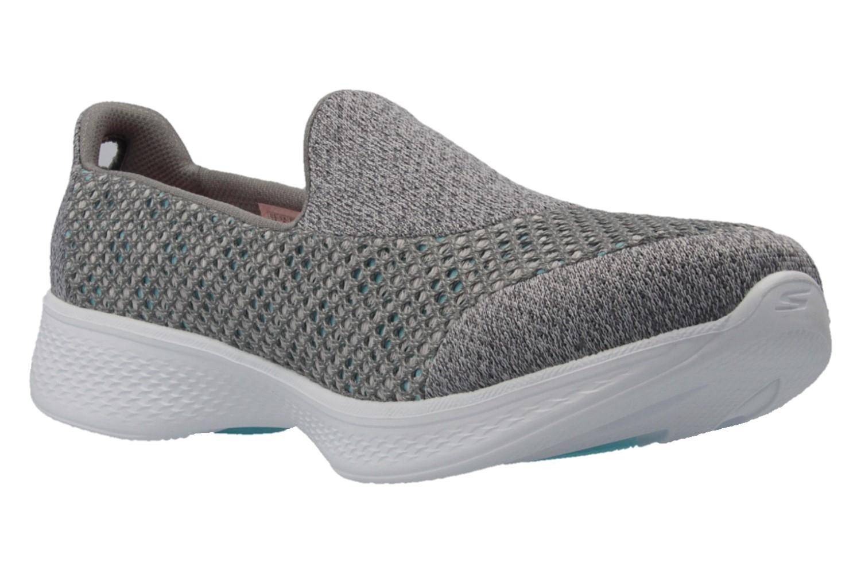 SKECHERS - Damen Slipper - GO WALK 4  KINDLE - Grau Schuhe in Übergrößen – Bild 5