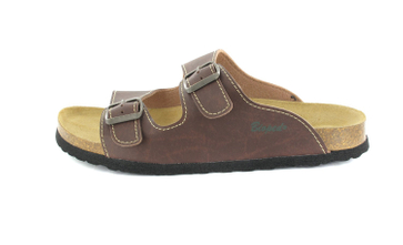 BIOPED - Hausschuhe Pantoletten - Kreta - Dunkelbraun Schuhe in Übergrößen – Bild 2