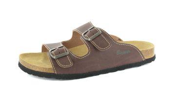BIOPED - Hausschuhe Pantoletten - Kreta - Dunkelbraun Schuhe in Übergrößen – Bild 1