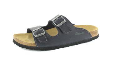 BIOPED - Hausschuhe Pantoletten Pantoletten - Kreta - Dunkelblau Schuhe Günstig