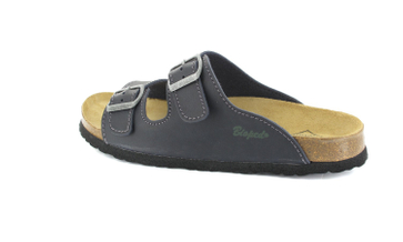 BIOPED - Hausschuhe Pantoletten Pantoletten - Kreta - Dunkelblau Schuhe Günstig – Bild 3