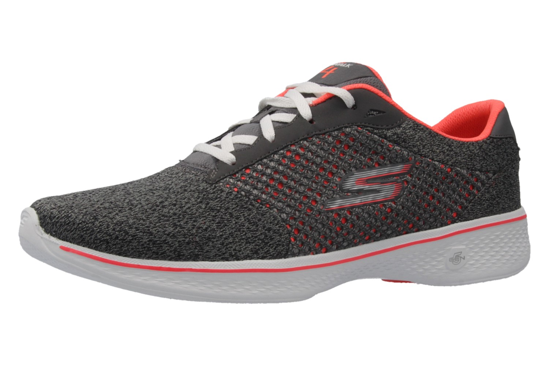 skechers damen sneaker go walk 4 exceed grau schuhe. Black Bedroom Furniture Sets. Home Design Ideas