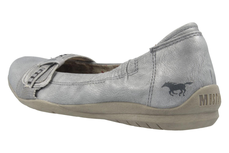 Mustang Shoes Ballerinas in Übergrößen Silber 1181-209-21 große Damenschuhe – Bild 2