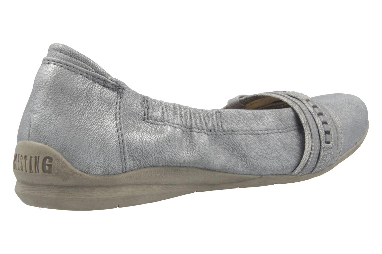 Mustang Shoes Ballerinas in Übergrößen Silber 1181-209-21 große Damenschuhe – Bild 3