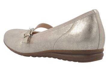 GABOR comfort - Damen Spangenballerinas - Platin Schuhe in Übergrößen – Bild 2