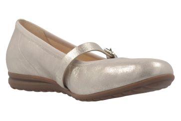 GABOR comfort - Damen Spangenballerinas - Platin Schuhe in Übergrößen – Bild 5