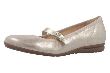 GABOR comfort - Damen Spangenballerinas - Platin Schuhe in Übergrößen