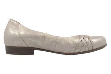 GABOR comfort - Damen Ballerinas - Platin Schuhe in Übergrößen – Bild 4