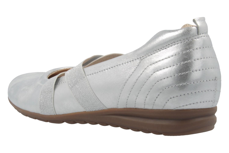 GABOR comfort - Damen Spangenballerinas - Silber Schuhe in Übergrößen – Bild 2