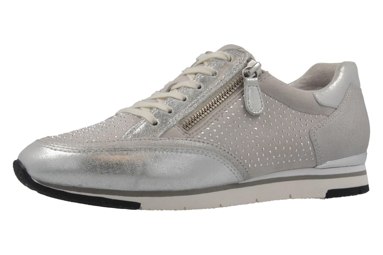 Gabor Sneaker in Übergrößen Silber 64.322.13 große Damenschuhe – Bild 1