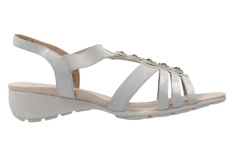 Remonte Sandalen in Übergrößen Silber R5271-90 große Damenschuhe – Bild 4