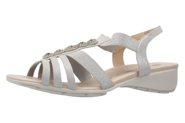Remonte Sandalen in Übergrößen Silber R5271-90 große Damenschuhe