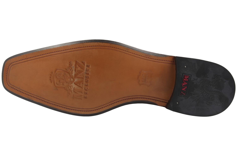 Manz Grandada AGO Business-Schuhe in Übergrößen Schwarz 116005-03-001 große Herrenschuhe – Bild 6