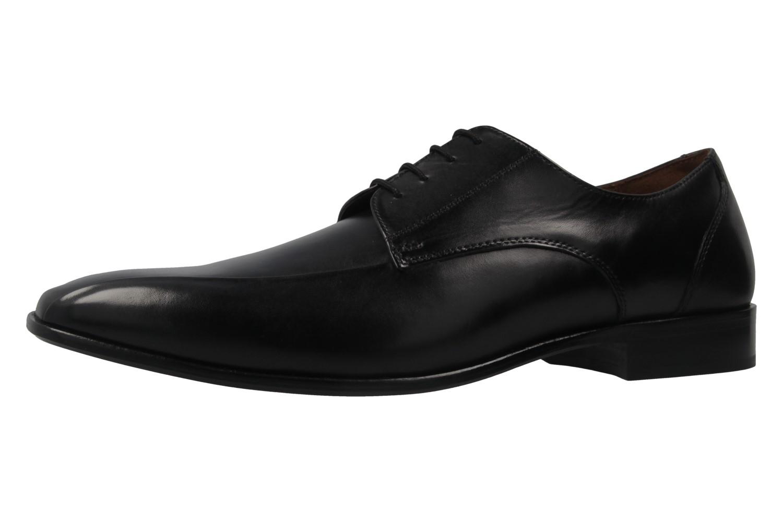 Manz Grandada AGO Business-Schuhe in Übergrößen Schwarz 116005-03-001 große Herrenschuhe – Bild 1