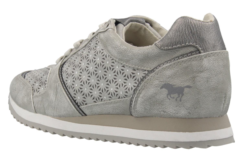 MUSTANG - Damen Sneaker - Silber Schuhe in Übergrößen – Bild 2