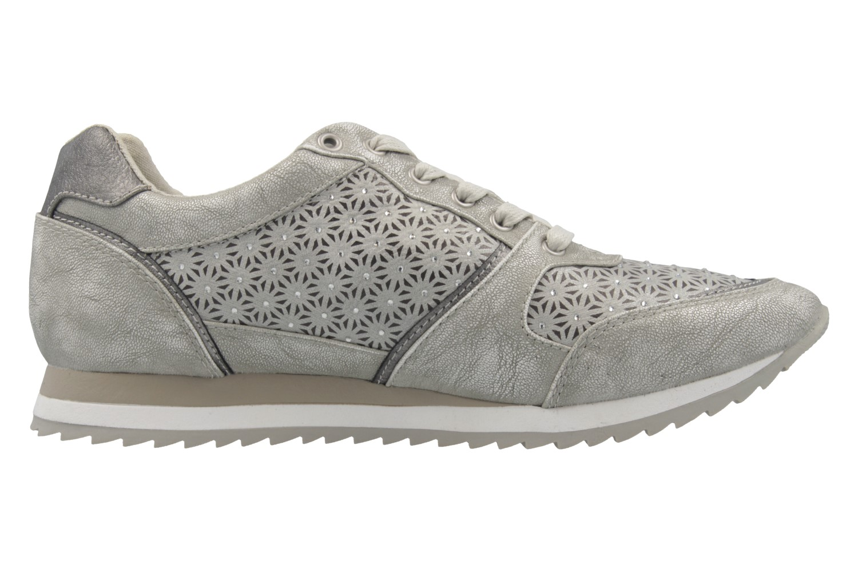 MUSTANG - Damen Sneaker - Silber Schuhe in Übergrößen – Bild 4