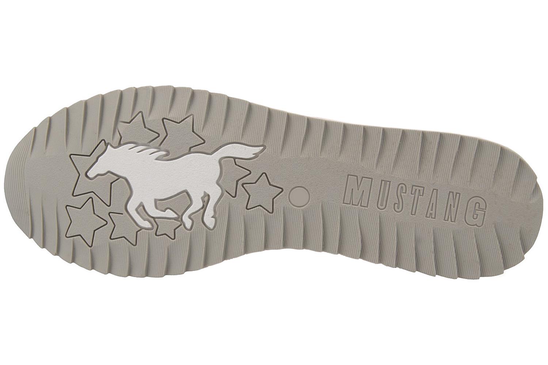 Mustang Shoes Sneaker in Übergrößen Silber 1237-301-21 große Damenschuhe – Bild 6