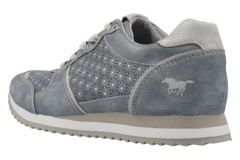 Mustang Shoes Sneaker in Übergrößen Blau 1237-301-852 große Damenschuhe – Bild 2