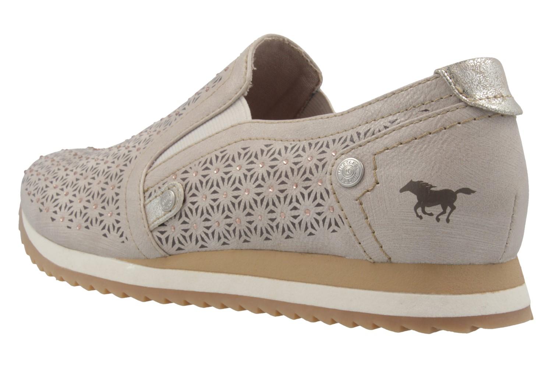 Mustang Shoes Slipper in Übergrößen Beige 1237-401-4 große Damenschuhe – Bild 2