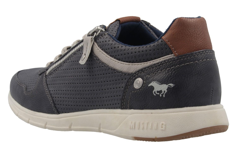 Mustang Shoes Halbschuhe in Übergrößen Blau 4115-305-820 große Herrenschuhe – Bild 2