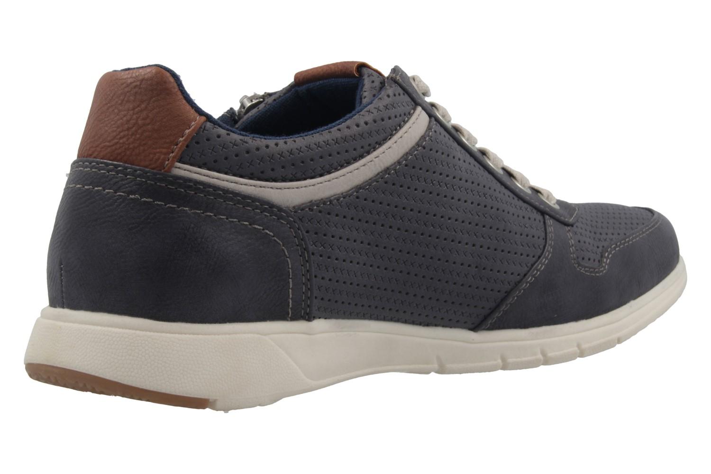 MUSTANG - Herren Halbschuhe - Blau Schuhe in Übergrößen – Bild 3