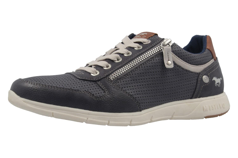 MUSTANG - Herren Halbschuhe - Blau Schuhe in Übergrößen – Bild 1