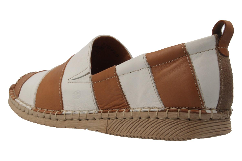 JOSEF SEIBEL - Damen Slipper - Sofie 21 - Braun/Weiß Schuhe in Übergrößen – Bild 2