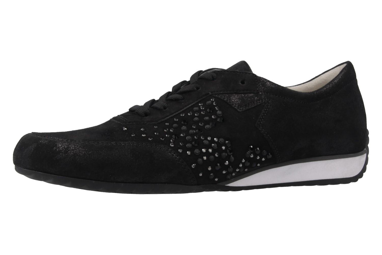 GABOR comfort - Damen Halbschuhe - Schwarz Metallic Schuhe in Übergrößen – Bild 1