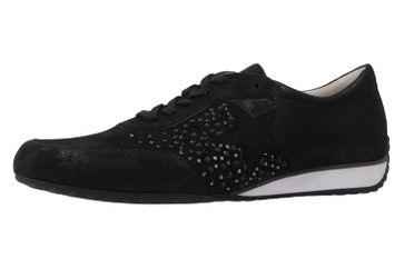 GABOR comfort - Damen Halbschuhe - Schwarz Metallic Schuhe in Übergrößen