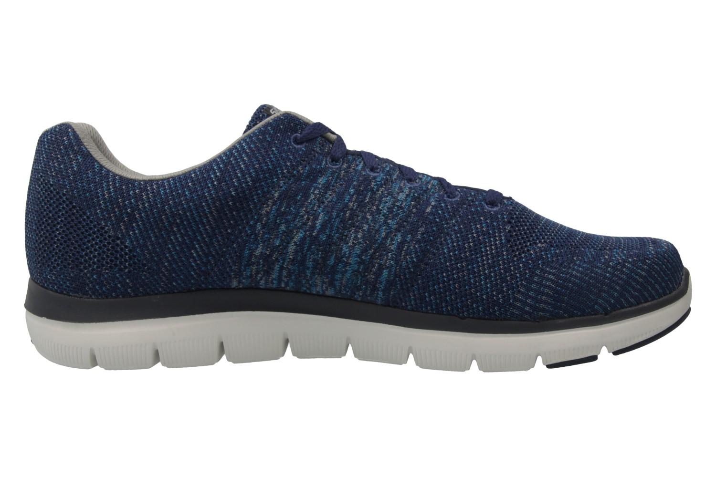 Skechers Sneaker in Übergrößen Blau 52181/NVGY große Herrenschuhe – Bild 4