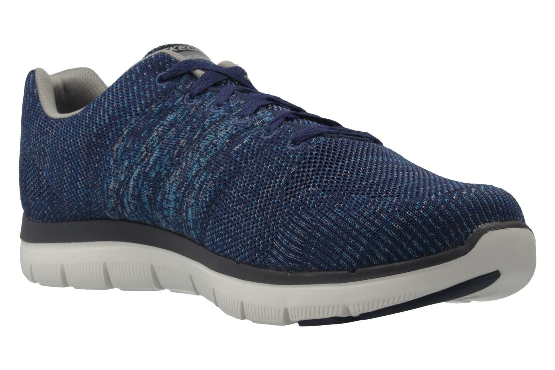 Skechers Sneaker in Übergrößen Blau 52181/NVGY große Herrenschuhe – Bild 5
