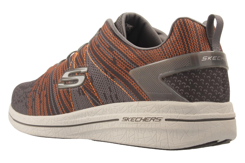 SKECHERS - Herren Sneaker - BURST 2.0 IN THE MIX II - Grau/Orange Schuhe in Übergrößen – Bild 2