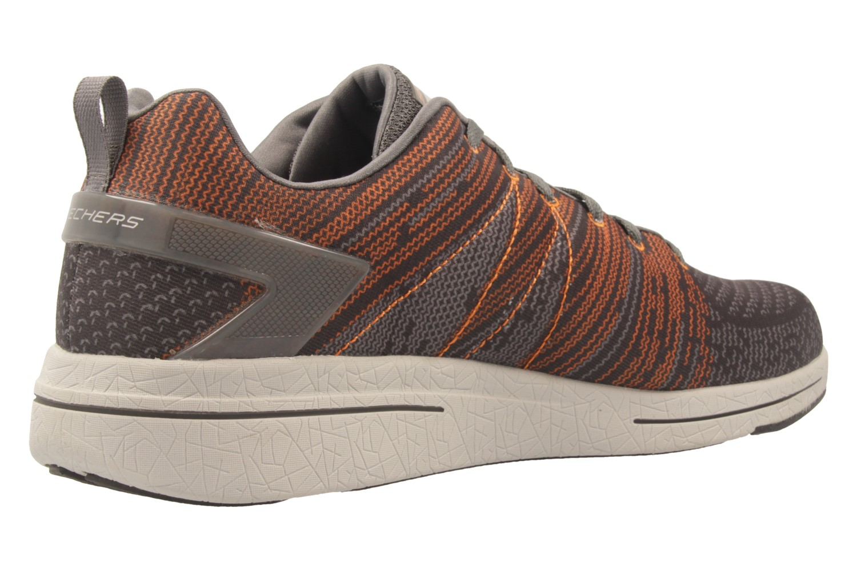 SKECHERS - Herren Sneaker - BURST 2.0 IN THE MIX II - Grau/Orange Schuhe in Übergrößen – Bild 3