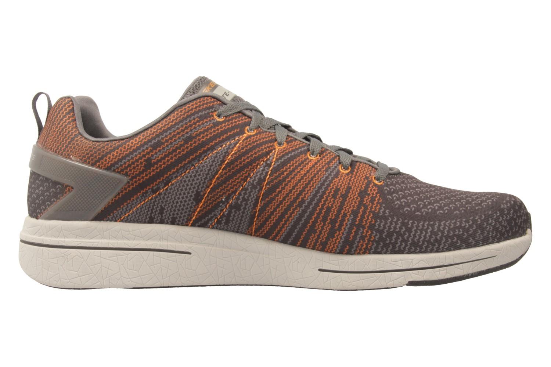 SKECHERS - Herren Sneaker - BURST 2.0 IN THE MIX II - Grau/Orange Schuhe in Übergrößen – Bild 4