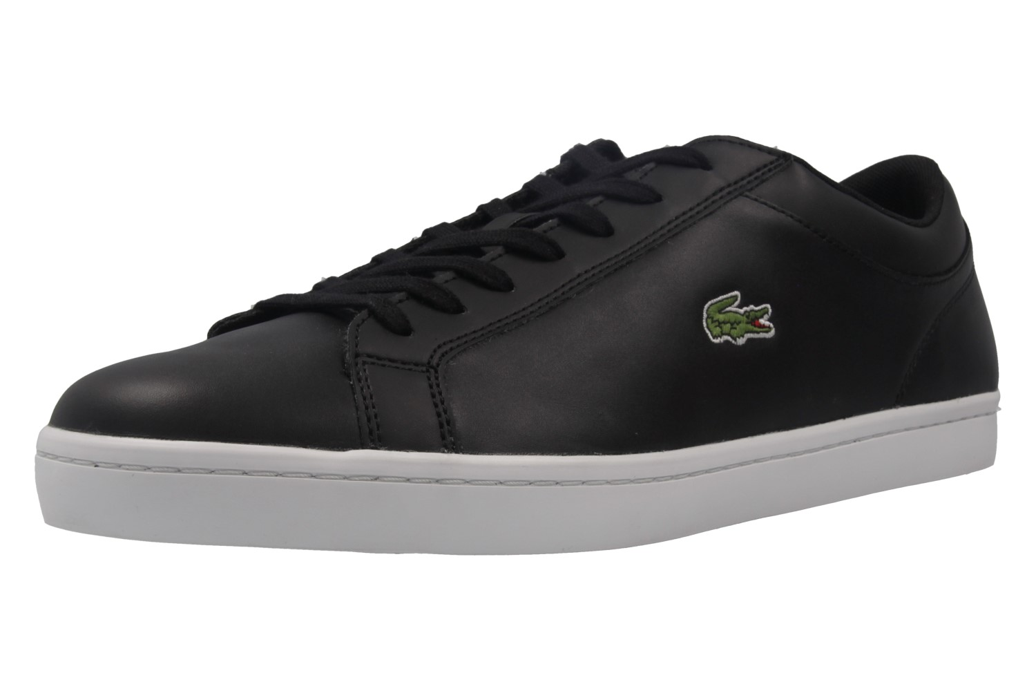 lacoste herren sneaker straightset bl schwarz schuhe in bergr en herrenschuhe in. Black Bedroom Furniture Sets. Home Design Ideas