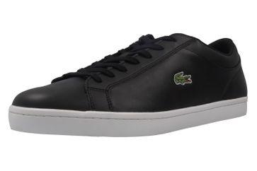 LACOSTE - Herren Sneaker - Straightset BL - Schwarz Schuhe in Übergrößen – Bild 1