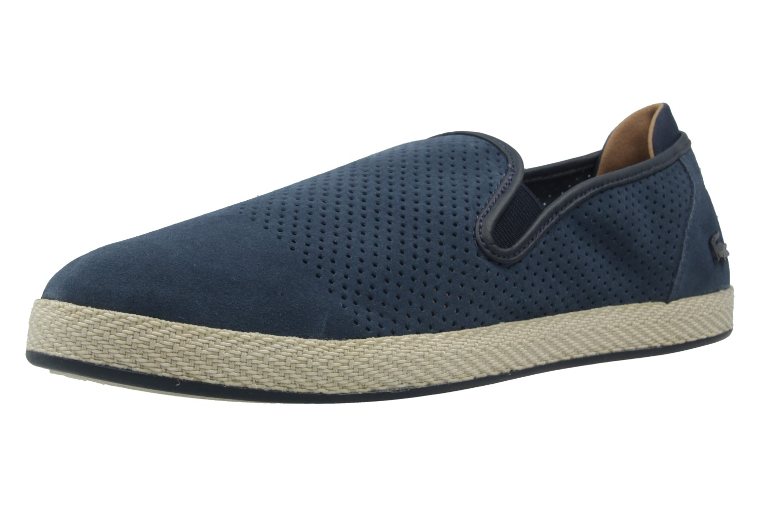 lacoste herren slipper tombre blau schuhe in. Black Bedroom Furniture Sets. Home Design Ideas