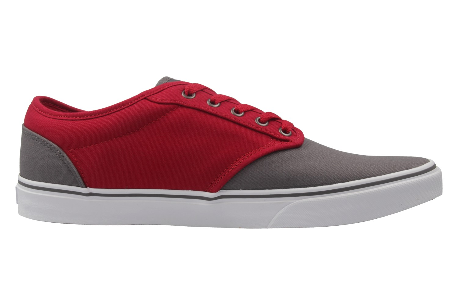 vans herren sneaker grau rot gro e schuhe xxl bergr e ebay. Black Bedroom Furniture Sets. Home Design Ideas