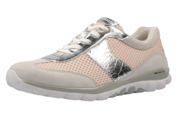 GABOR rollingsoft - Damen Halbschuhe - Grau/Rosa Schuhe in Übergrößen – Bild 1