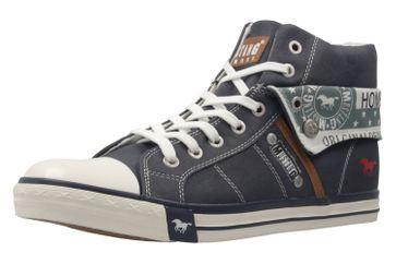 MUSTANG - Damen High Top Sneaker - Blau Schuhe in Übergrößen