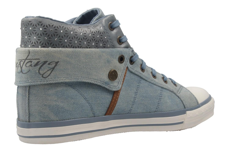 Mustang Shoes High Top Sneaker in Übergrößen Blau 1146-514-88 große Damenschuhe – Bild 3