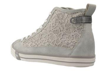 MUSTANG - Damen High Top Sneaker - Silber Schuhe in Übergrößen – Bild 2