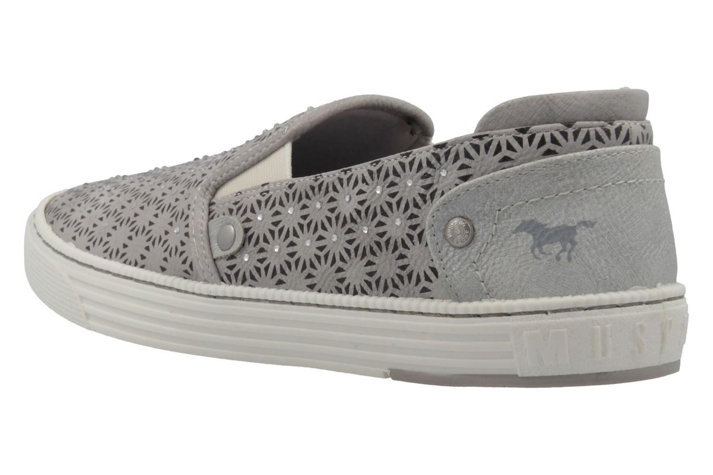 MUSTANG - Damen Slipper - Grau Schuhe in Übergrößen – Bild 2