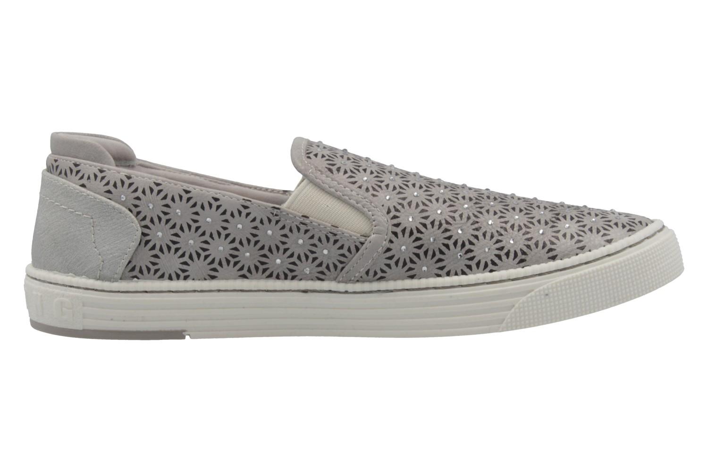 MUSTANG - Damen Slipper - Grau Schuhe in Übergrößen – Bild 4