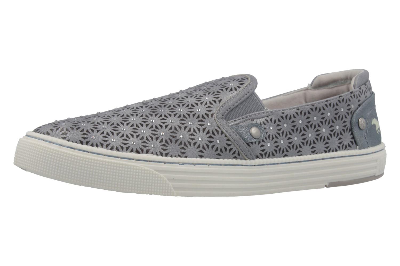 MUSTANG - Damen Slipper - Grau Schuhe in Übergrößen – Bild 1